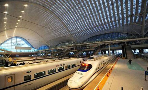 Wuhan Guangzhou high speed trains