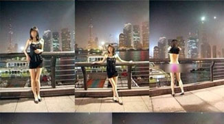 Woman Takes Outdoor Nude Photos Along Bund And Throughout Shanghai