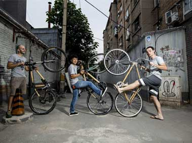 Photo Essay: Beijingers say Yes to Bamboo Bicycles