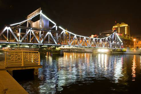 Night View Over Hai River in Tianjin