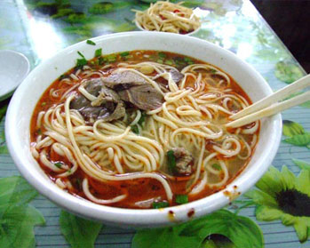 A delicious bowl of Lanzhou beef noodles
